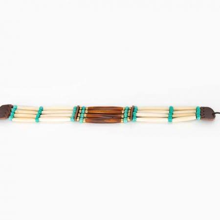 Choker línea estilo nativo americano